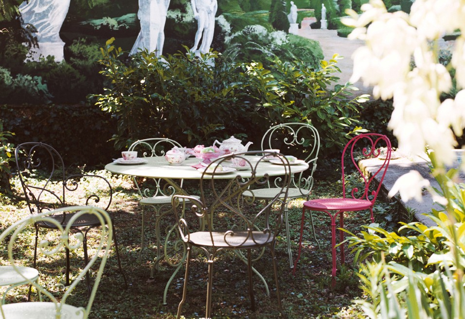 Tavolo Fermob 1900 DIAMETRO CM 117 bianco cotone 01-3585