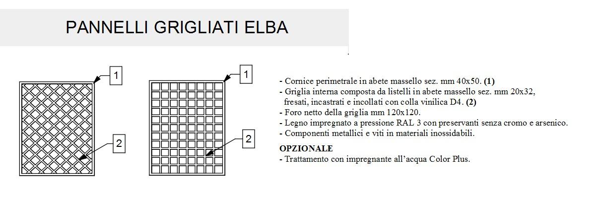 Grigliati Fiorin in legno ELBA-3127