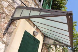 Pensilina Fiorin in ferro e copertura in vetro-0