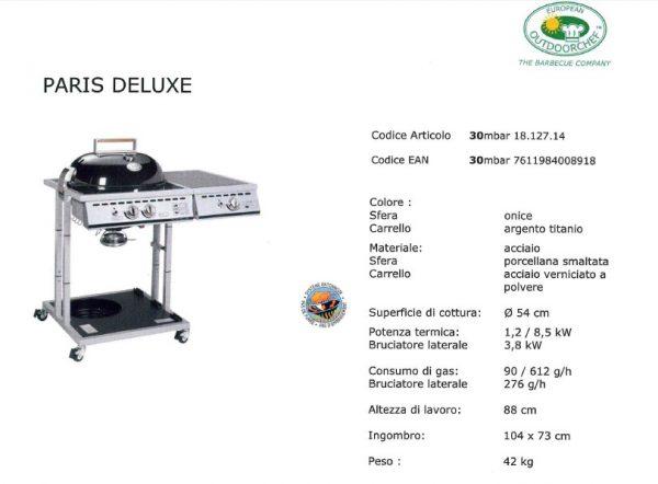 Barbecue Outdooerchef a gas PARIS DELUXE diam 57-4793