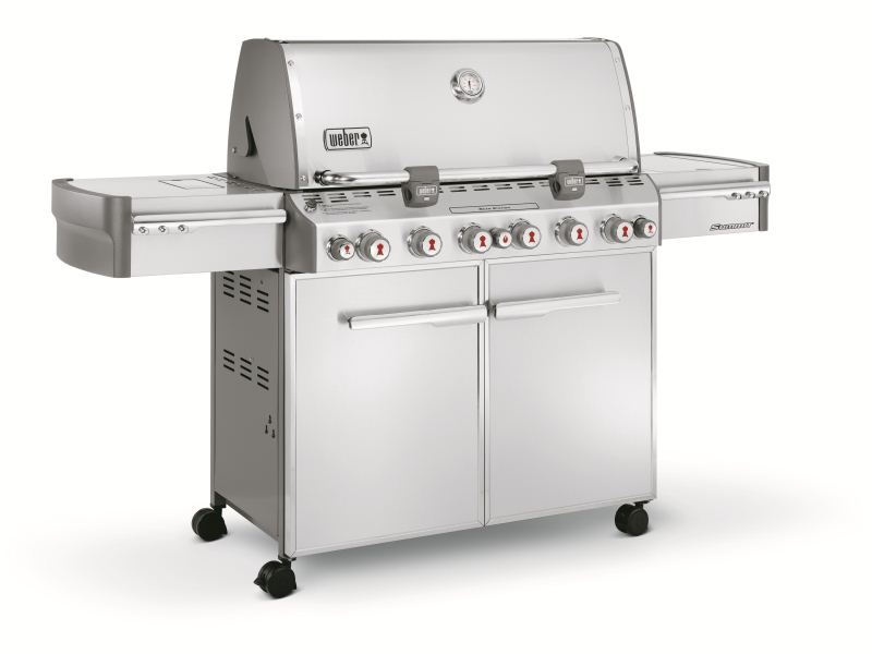 Barbecue Weber a gas SUMMIT S-670 GBS INOX CON GRIGLIE GOURMET-0