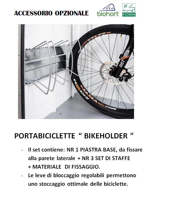 CASETTA Biohort IN METALLO MODELLO AVANTGARDE. BIKE HOLDER