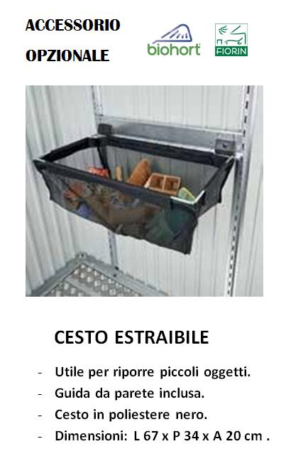 CASETTA Biohort IN METALLO MODELLO AVANTGARDE, CESTO ESTRAIBILE