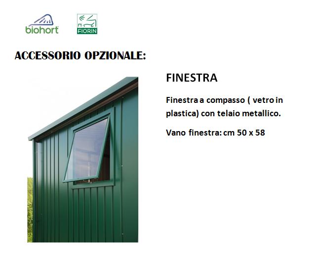 CASETTA Biohort IN METALLO MOD. EUROPA, Finestra