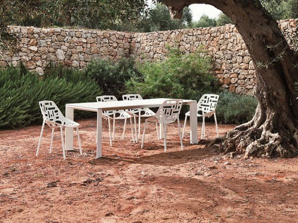 Tavolo Fast in alluminio allungabile GRANDE ARCHE 100 x 220/270-0
