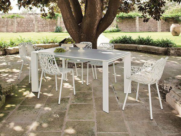 Tavolo Fast in alluminio allungabile GRANDE ARCHE 90 x 160/210-0