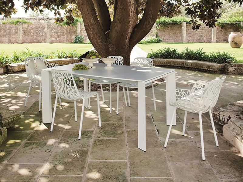 Tavolo Fast in alluminio allungabile GRANDE ARCHE 90 x 160/210