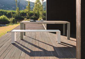 Tavolo Fast in alluminio GRANDE ARCHE fisso-0