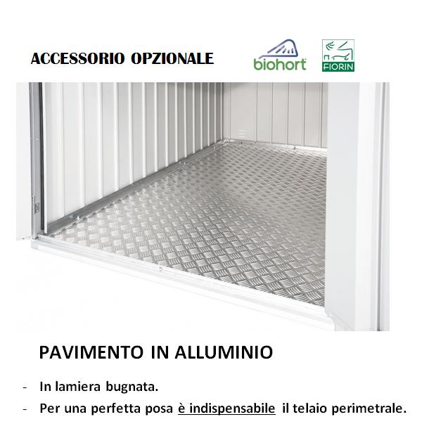 CASETTA Biohort IN METALLO MODELLO AVANTGARDE, pavimento in alluminio