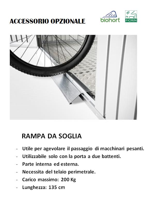 CASETTA Biohort IN METALLO MODELLO AVANTGARDE, RAMPA