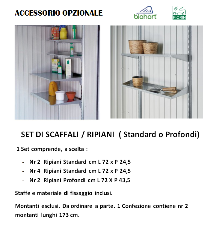ARMADIO Biohort, SCAFFALI
