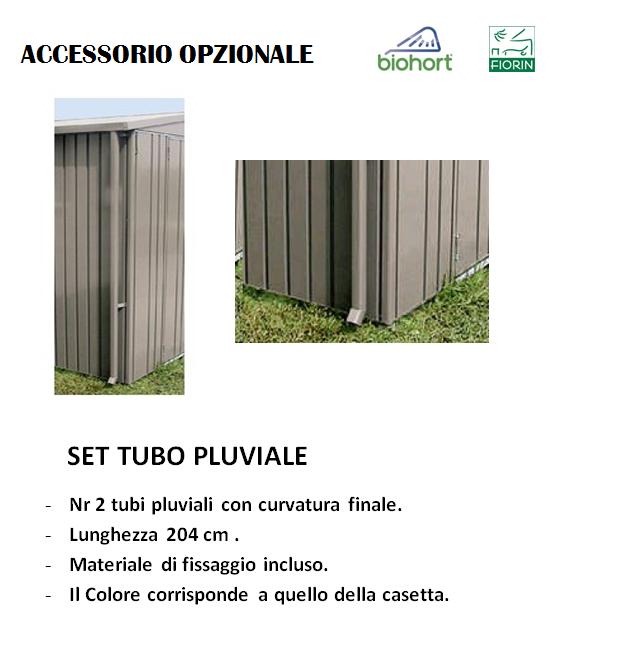CASETTA Biohort IN METALLO MODELLO AVANTGARDE, TUBI PLUVIALE