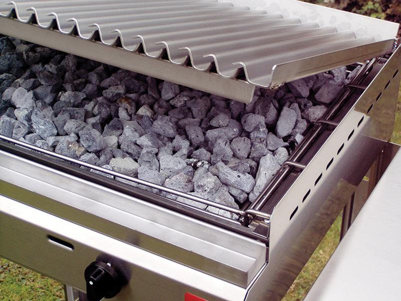 sistema pietra lavica con piastra ad onde
