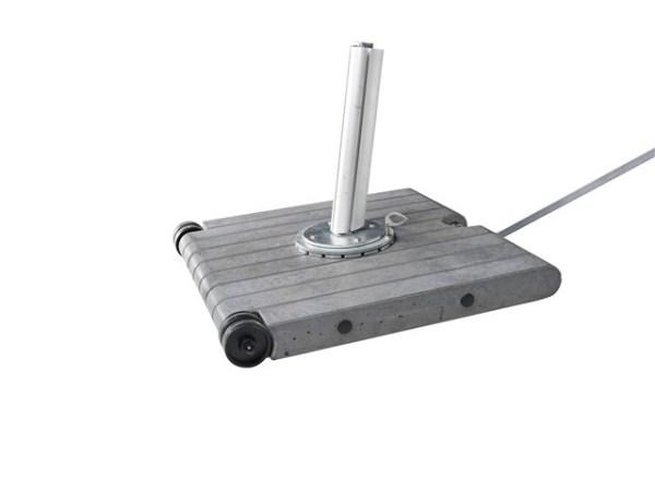 in abbinamento : base mobile in cemento con leva di spostamento , cm 86 x 86 peso 120 kg