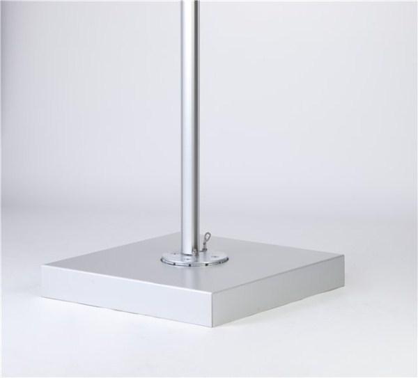 in abbinamento : crocera cm 86 x 86 x 13-h con copri base ina alluminio anodizzato ( mattonelle non incluse )