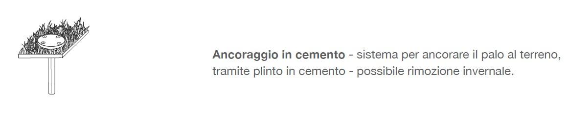 in abbinamento : ancoraggio a cemento
