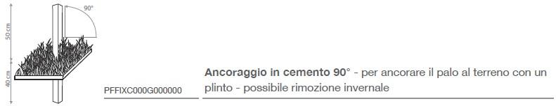 in abbinamento : ancoraggio in cemento 90°