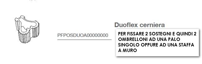 Ombrellone Umbrosa pensile PARAFLEX MULTIFLEX 4-5101