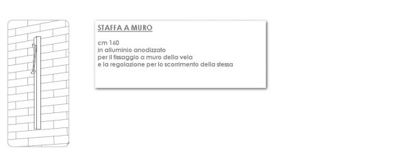 STAFFA A MURO UMBROSA CM 160-0