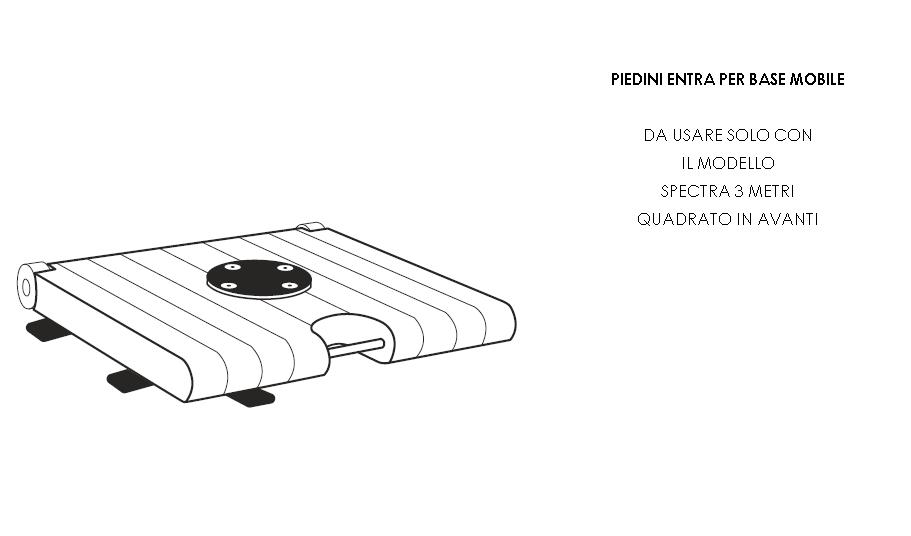 piedini etra per base mobile, opzionabili