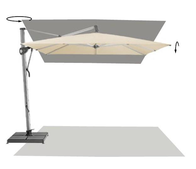 ombrellone glatz retrattile sombrano easy tessuto classe. Black Bedroom Furniture Sets. Home Design Ideas