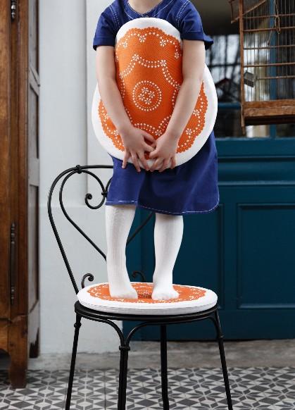 Cuscino Fermob collezione NAPPERON colore ALBORELLA - ABLETTE per sedia 1900 con bracciolo-7541