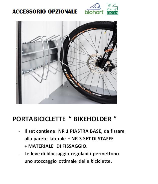 CASETTA BIOHORT in metallo HIGHLINE, PORTA BICI BIKE HOLDER