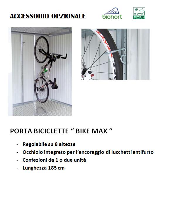 CASETTA BIOHORT in metallo HIGHLINE, PORTA BICI BIKE MAX