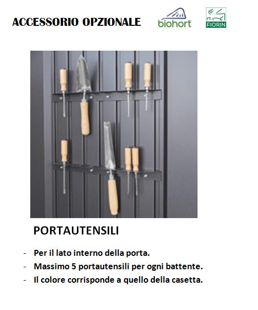 CASETTA BIOHORT in metallo HIGHLINE, portautensili