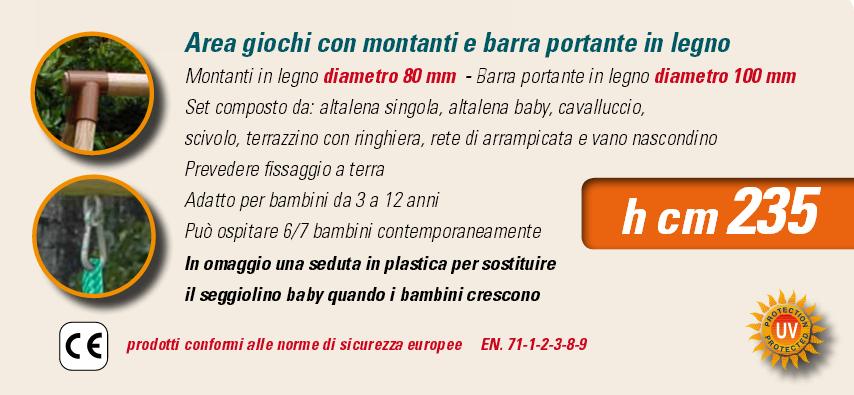 ALTALENA IN LEGNO APACHE , TRASPORTO COMPRESO-9343