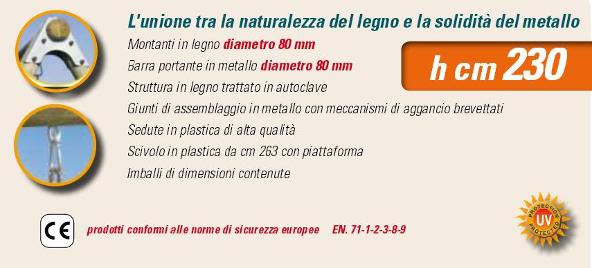 ALTALENA IN LEGNO CICLAMINO , TRASPORTO COMPRESO-9332