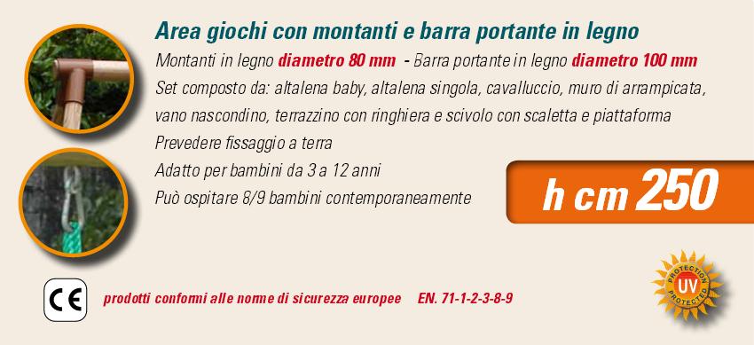 ALTALENA IN LEGNO FORT JUNGLE , TRASPORTO COMPRESO-9359