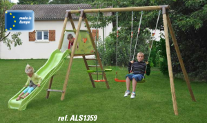 ALTALENA IN LEGNO GLICINE , TRASPORTO COMPRESO-0