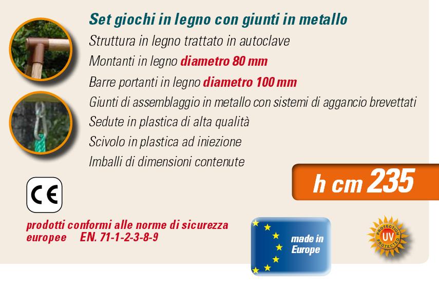 ALTALENA IN LEGNO MAGNOLIA , TRASPORTO COMPRESO-9306