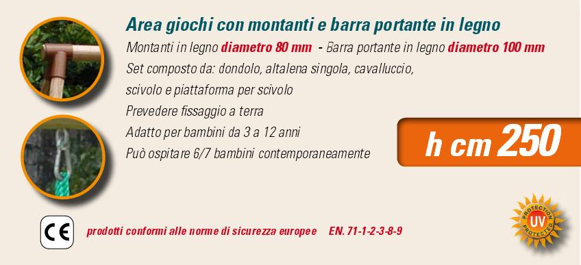 ALTALENA IN LEGNO MOHAVE , TRASPORTO COMPRESO-9348