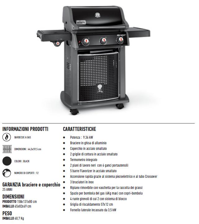 barbecue weber a gas spirit classic e 320 fiorinmaurizio. Black Bedroom Furniture Sets. Home Design Ideas