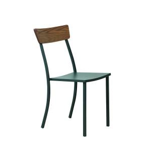 Sedia MOGAN SENZA BRACCIOLO, con schienale in legno , Vermobil -0