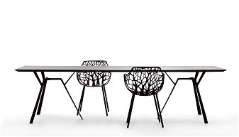 tavolo radice quadra rettangolare cm 90 x 290