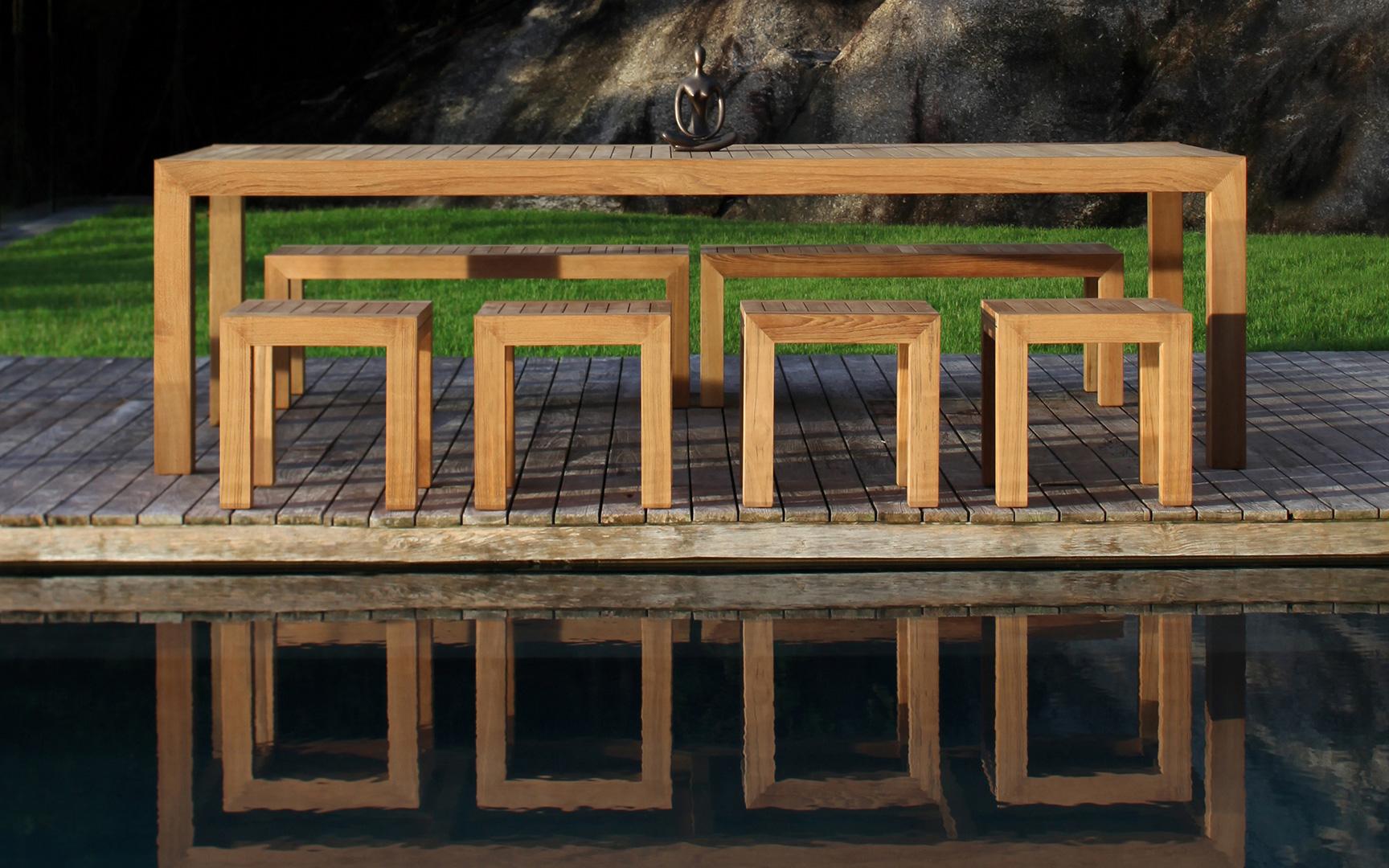 tavolo in teak royal botania modello IXIT allungabile -17802