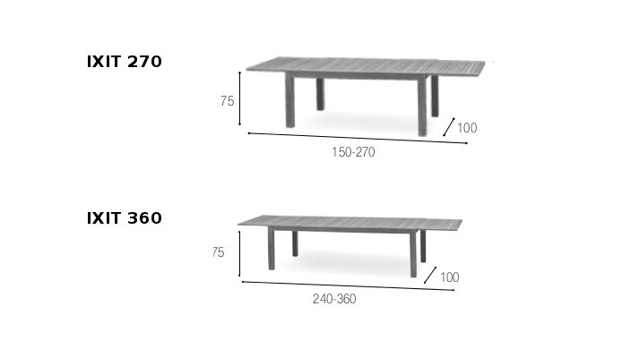 tavolo in teak royal botania modello IXIT allungabile -17800