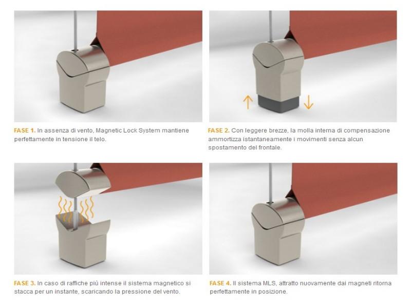 Chiusura Pratic verticale con cavi inox T-LINE 6