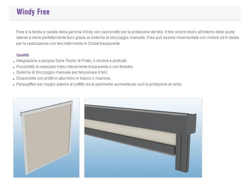 Chiusura Pratic verticale con guide laterali WINDY 6