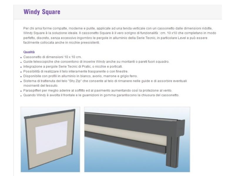 Chiusura Pratic verticale con guide laterali WINDY 7