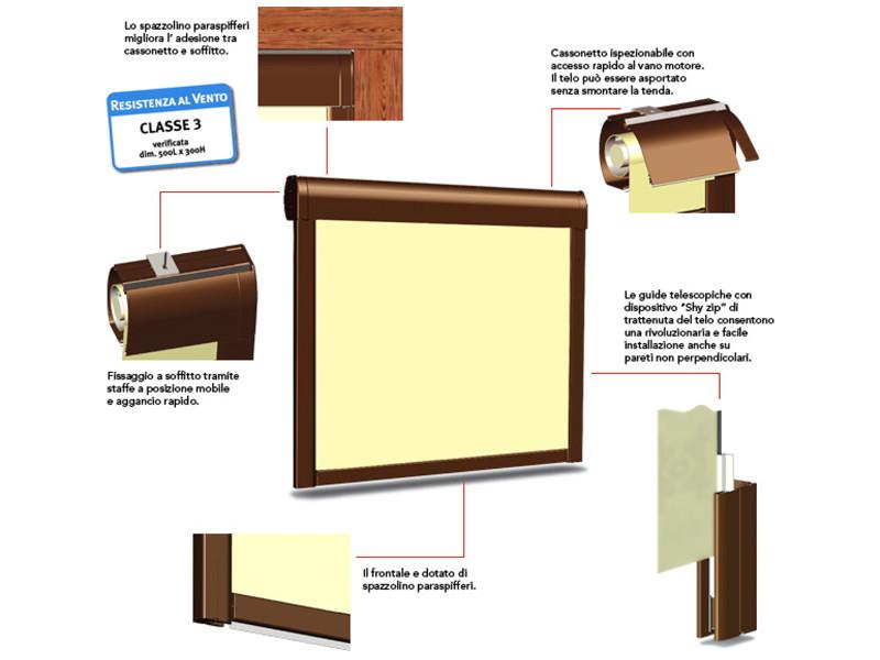Chiusura Pratic verticale con guide laterali WINDY 8 testo