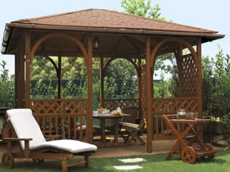 Gazebo Fiorin in legno Pavillon 2
