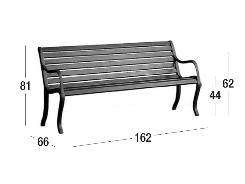 Panca Oasi di Fast dimensioni 593