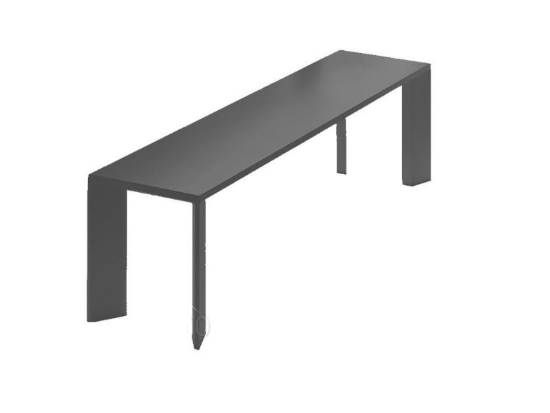 Panca in alluminio verniciato Grande Arche nera 5805
