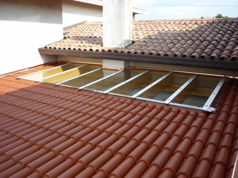 Pergola Fiorin in legno copertura in coppi e vetro 3