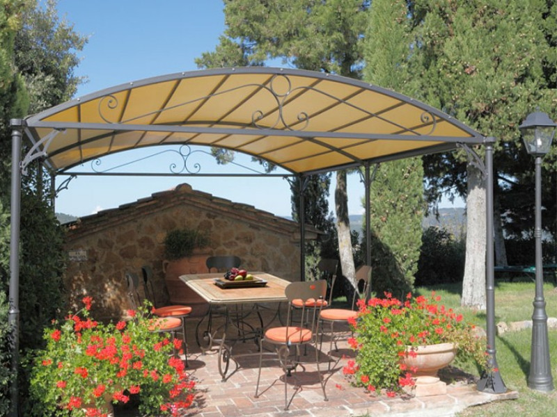 Pergola Gaia in ferro forgiato