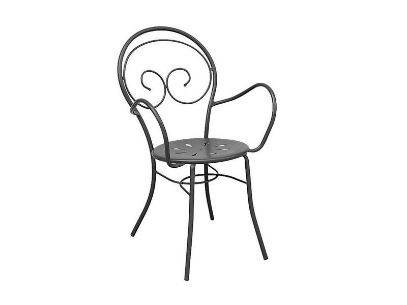 Sedia Mimmo Vermobil con braccioli Nera